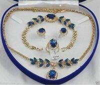fine Lovely Wonderful Beautiful blue gem bracelet earring ring necklace pendant gem women's jewelry silver