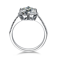 ZOCAI Carat Diamond Effect Heart Cut Shape 0.45 CT Certified H/SI Diamond Engagement Women Ring 18K White Gold (Au750) W02994