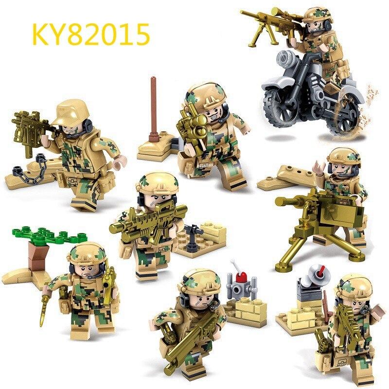 SWAT мировой войны 2 WW2 Военная Униформа солдат с оружием солдат армии строительный блок кирпич Игрушечные лошадки подарок для мальчиков