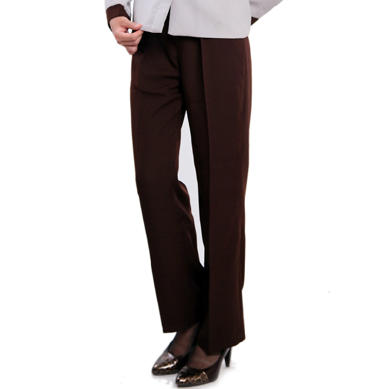 Cleaners Beauty Black Dark Brown Pants Cleaning Work Elastic Clothes Work Overall Womens Work Suit Uniform Chinese J038