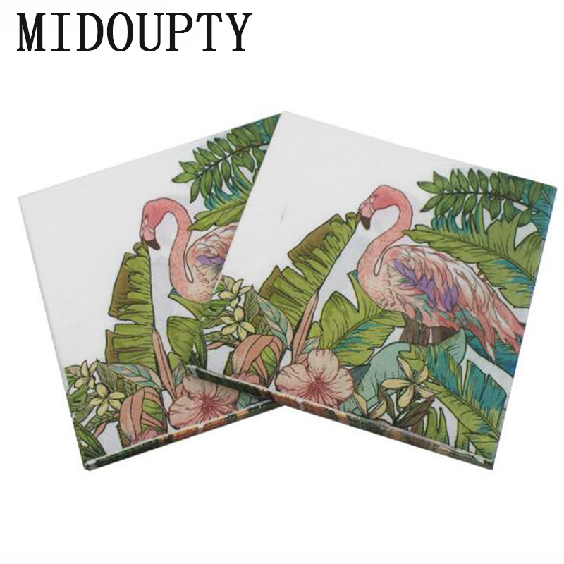 20pcsset Flamingos Paper Napkins Birthday Party Newest Disposable Tableware For Event Party Decoration