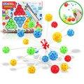 Novo DIY Variety Inserido Contas Bloco Blocos de Construção ABS Crianças Brinquedos Educativos Plug Brinquedo do Grânulo 24 Pcs Mágico Contas