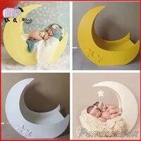 Луна и звезды кровать детский наряд для фотосессии новорожденных фотографии ручной работы деревянная корзина для съемки фото сессии Studio ре