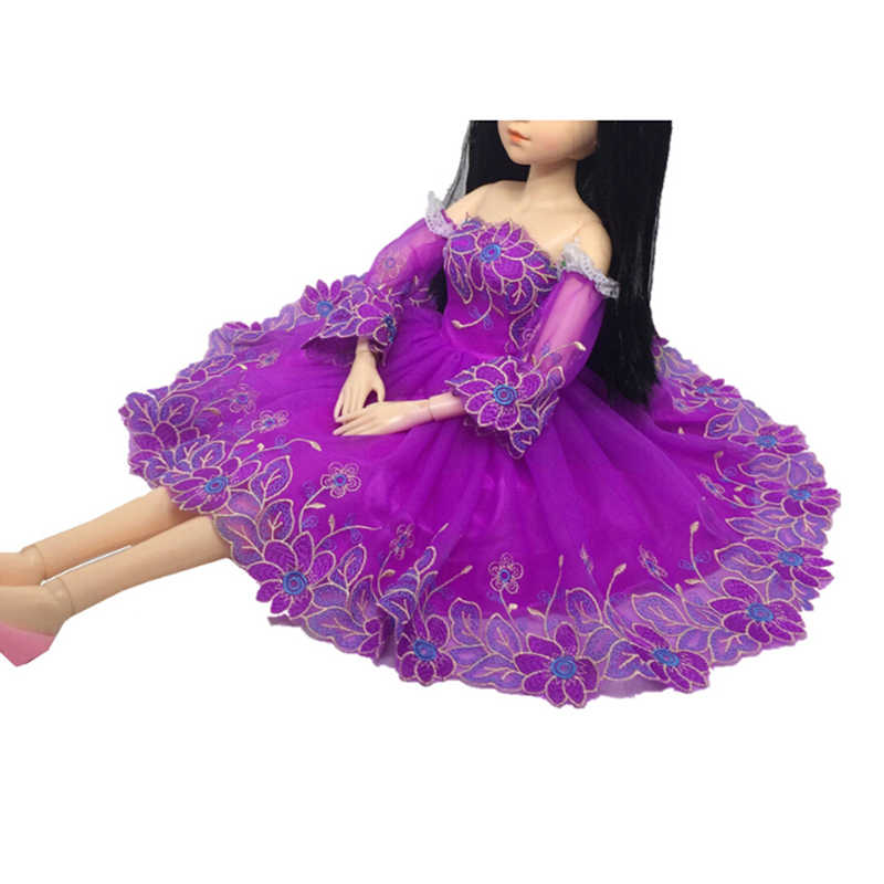 New Sleeve Princess Fashion Dress Accessories Clothing for 60CM For  s Doll Toy (Not Include Doll)