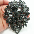 Romântico arte de strass cristal pingente de flor de ameixa grupo