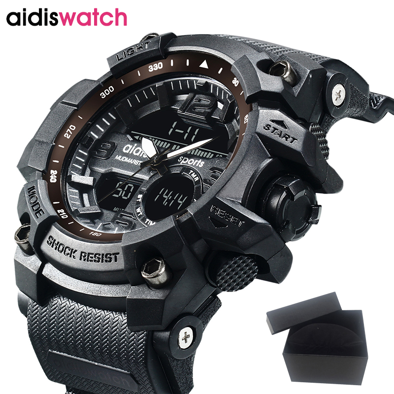 AIDIS Men Sport Watch Army Military Analog Digital LED Electronic Quartz clock relogio masculino esportivo Wrist criancas relogio 2017 colorful boys girls students digital lcd wrist watch boys girls electronic digital wrist sport watch 2 2