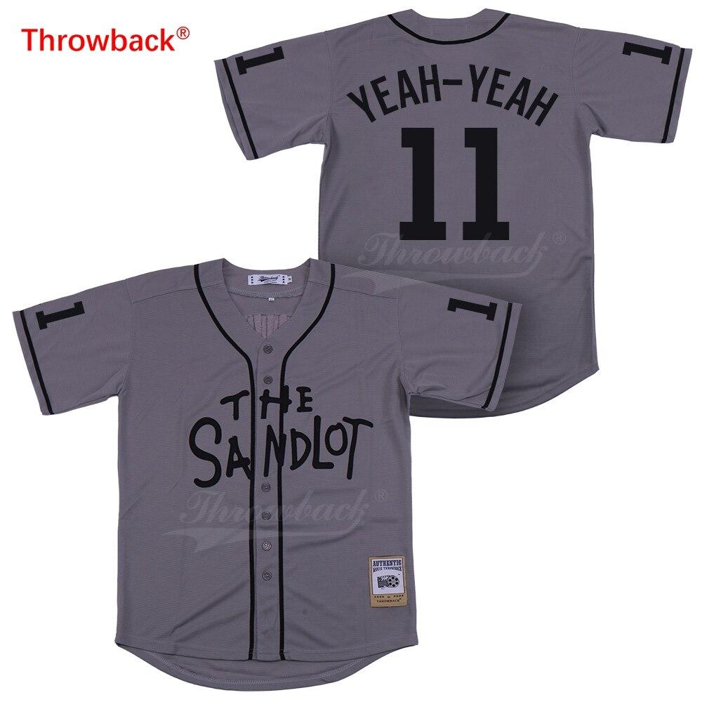 the latest 7949e 1b0df Throwback Jersey Men's The Sandlot Jersey Movie Baseball ...