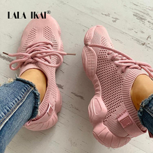 LALA IKAI Sneakers Women Spring Breathable Mesh Shoes Casual