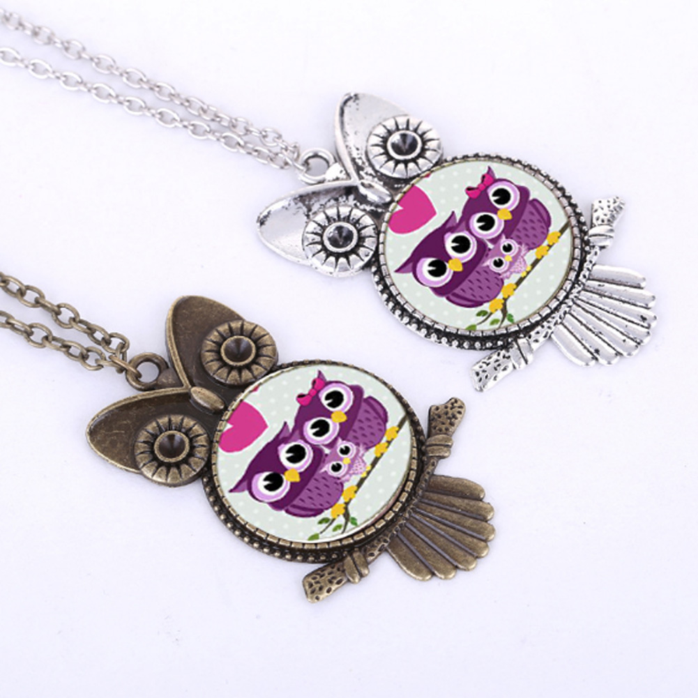 New Big Owl Necklace Jewelry Retro Tree Of Life Time Gem Pendant Fasion Women Favourite Owl Necklace