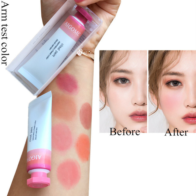 AIGOMC Makeup Liquid Blusher Sleek Silky Cloud paints Blush Lasts Long 6 Color Natural Cheek Blush