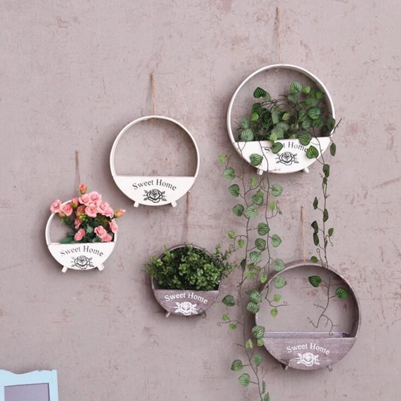 Home Decor Hanging Decorations Village Retro Nostalgic ... on Decorative Wall Sconces For Flowers Hanging Baskets Delivery id=33368