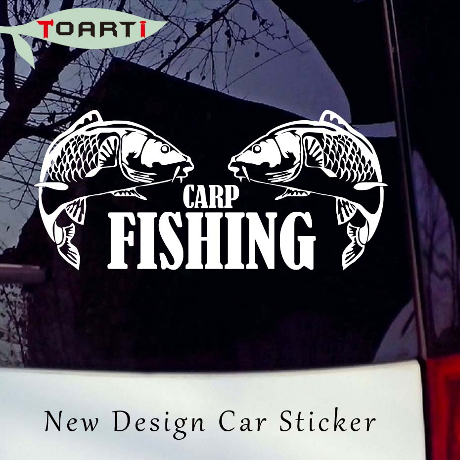 Carp Fishing Crew Hunter Bait Hooks Sticker Decal For Car Hood Tribal Salt Bones Fishing Life Car Styling Truck Decal Stickers sliverysea 5 5cm for yamaha logo jdm reflective sticker window decal car truck car styling vinyl stickers black sliver b1342