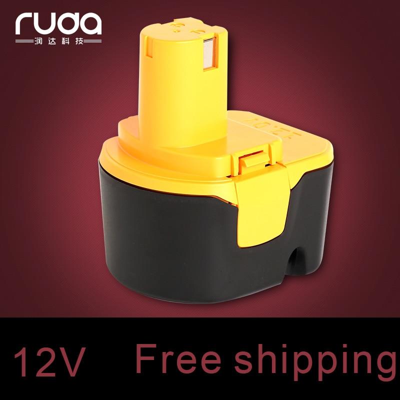 For Ryobi 12V 1500mAh power tool battery CTH1202K/CTH1202K2/FL1200/HP1201KM2/HP1201M/R10510/RY1201/TDS4000/TF1100/TFD220