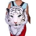 2017 Tiger Head White Tiger Head style Bag Knapsack Backpack tiger bags 2017 new Cool HUGE Luxury
