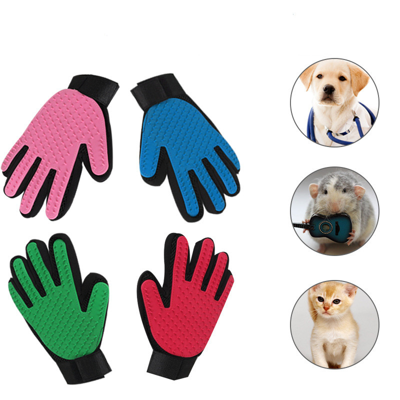 Hot Cat Grooming Glove For Cats Wool Glove Pet Hair Deshedding Pet Brush Comb Glove Pet Dog Cleaning Massage Glove For Animal