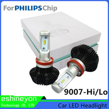 2016 High Low Beam 9007 Car-styling Universal Led Headlight Super White For Philips-ZES Chips Car Headlight Conversion Kit