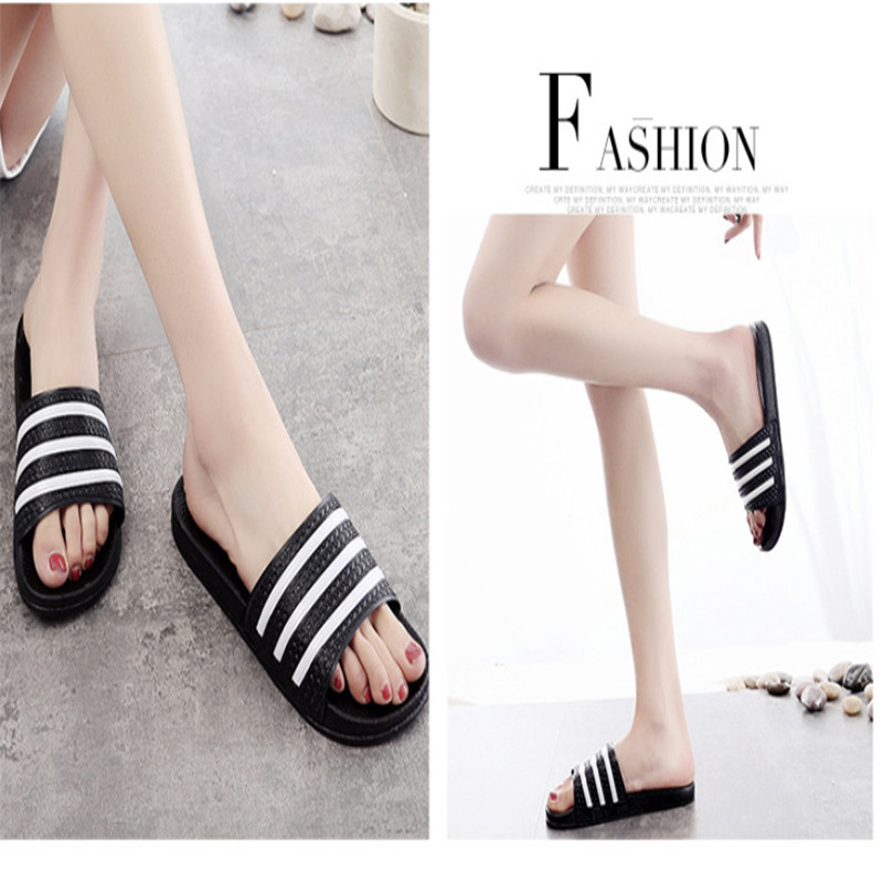 Teen Boys Girls Sandals Shoes Teenage Kids Summer Slippers Man Woman Beach Bath Shoes Home Slippers Casual Stripped PVC Shoes 4