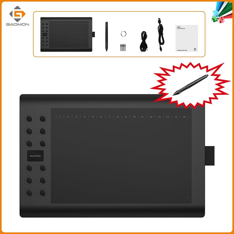 Tablet graficzny GAOMON M106K Penwap cyfrowy USB 10 x 6 cali z jednym - Peryferia komputerowe - Zdjęcie 2