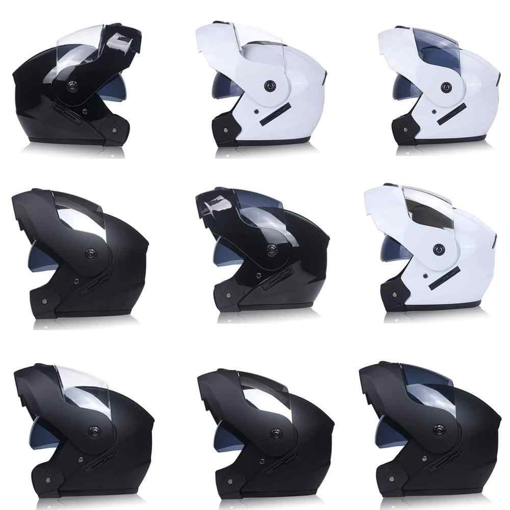 Casque moto Double lentille casque visage ouvert casque intégral casque de course casque de course unisexe casque Double usage