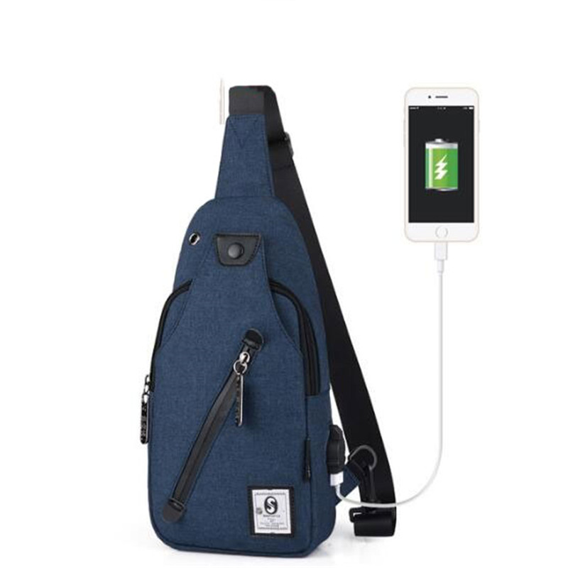 Aggressive New Men Usb Charging Crossbody Messengers Bags Solid Camouflage Sports Leisure Chest Bags Male Oxford Sport Travel Shoulder Bags Providing Amenities For The People; Making Life Easier For The Population Fine Jewelry