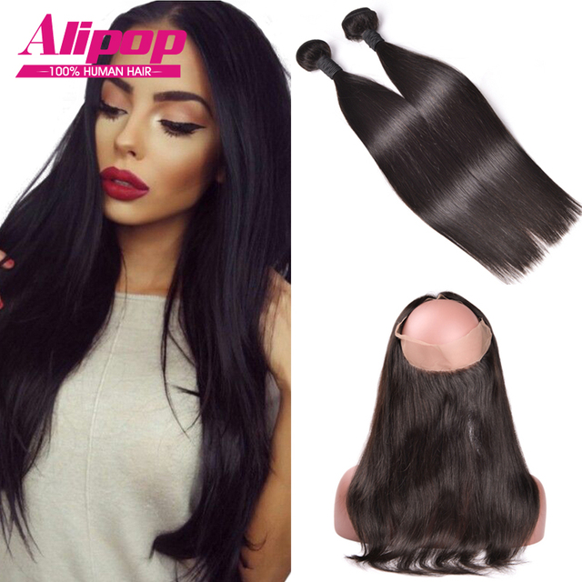 Ear To Ear 360 Lace Frontal With Bundle Brazilian Virgin Hair With Closure,360 Lace Frontal Closure With Bundles NaturalHairline