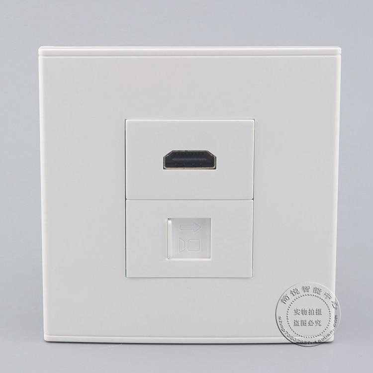 Wall Socket Plate 2 Ports Gigabit Network RJ45 CAT6 LAN & HDMI panel Faceplate Outlet wall socket 4 ports single port network lan cat6 rj45