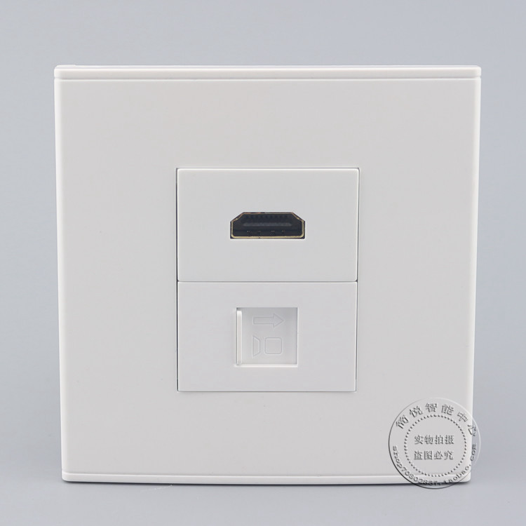 Wall Socket Plate Four Ports Rotate RJ45 CAT6 Network Lan Outlet Panel Faceplate
