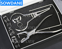 German Stainless Steel High Quality Dental Dentist Rubber Dam Kit Surgical Instruments Set CE