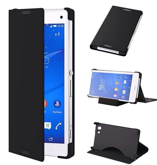 imágenes para Caja de Cuero de lujo para Sony Xperia X XA Z2 Z3 Z5 compacto Premium Plus C3 C5 M5 M4 Aguamarina Casos Cubierta Del Soporte Del Tirón
