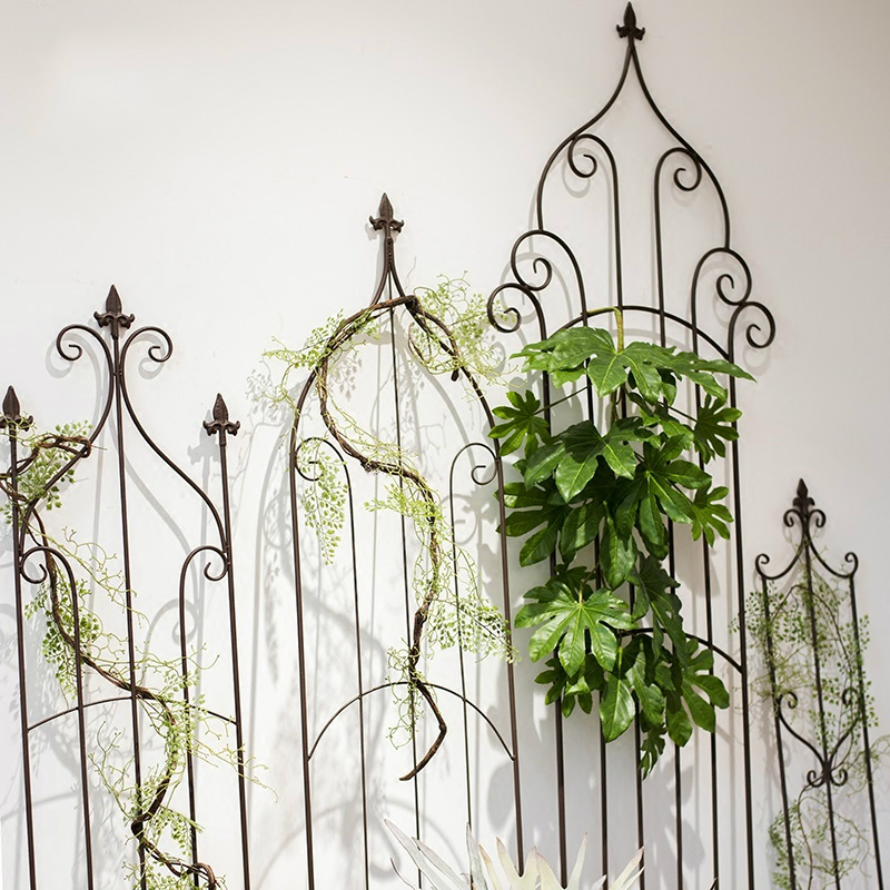 Vintage iron decorative flower garden balcony fence pergola style screen partition