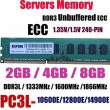 Сервер 8 Гб DDR3 1333 МГц PC3-10600E кода коррекции ошибок Небуферизованная оперативная память 4 Гб 2Rx8 PC3L-12800E DDR3L 1600 МГц 1866 PC3-14900E 240PIN UDIMM памяти