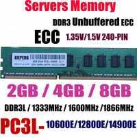 Server 8 GB DDR3 1333 MHz PC3-10600E ECC Unbuffered ram 4 GB 2Rx8 PC3L-12800E DDR3L 1600 MHz 1866 MHz PC3-14900E 240PIN UDIMM Speicher