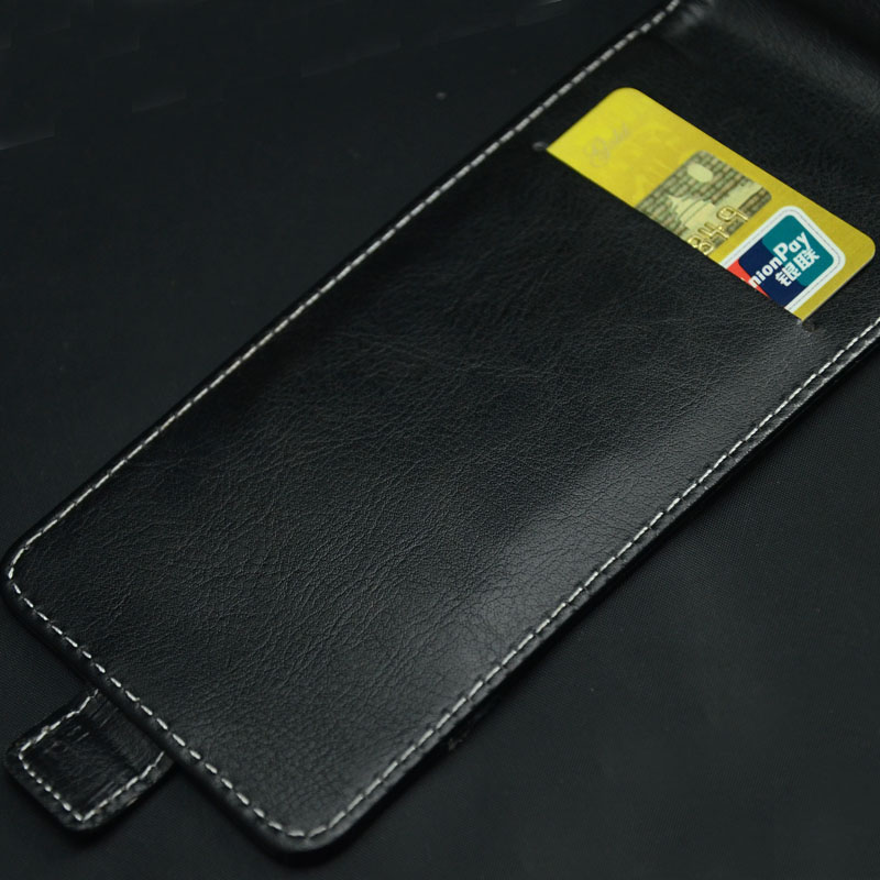 Pierves Luxury Card Slot flip cover PU Leather Case For Senseit E510