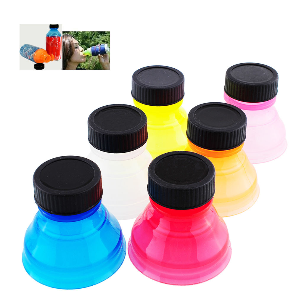 6 X Snappy Caps Snap Bottle Top Can Cover Fizz Coke Drink