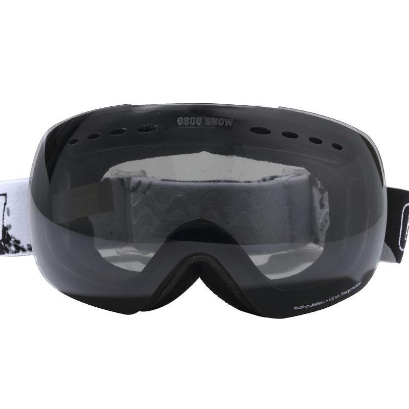 GSOU SNOW ski goggles double anti fog UV large spherical Cocker glasses for men and women