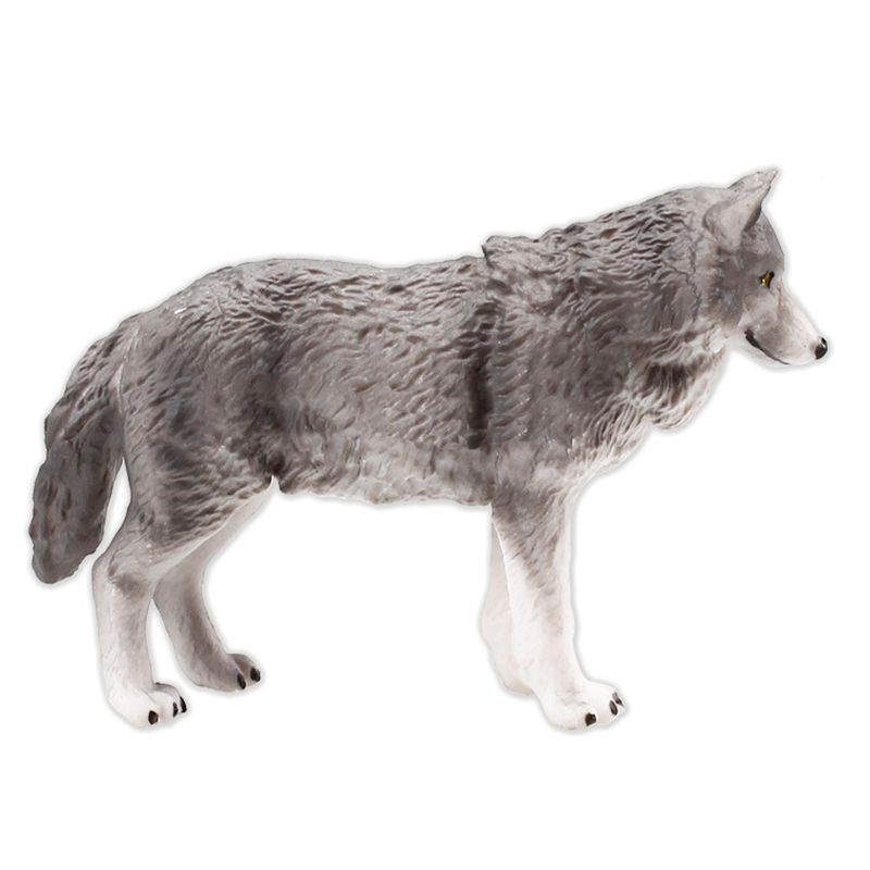Simulation Animal Model Action Figures Children Educational Toy Play Fun Collectibles Gray Wolf