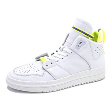 Genuine Leather high-top white shoes men Korea fashion British leisure sneakers spring autumn cowhide mens casual