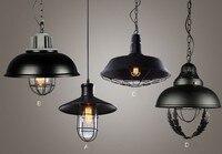 Loft Amerikanischen Land Stil Eisen Einzigen Kopf Pendelleuchten Bar Personalisierte Pendents Vintage Wohnzimmer Pendent Licht