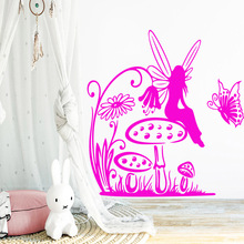 Removable butterfly girl Wall Sticker Home Furnishing Decorative For Living Room Bedroom Decoration Decal