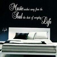 LARGE QUOTE MUSIC SOUL LIFE KITCHEN WALL MURAL ART STICKER DECAL MATT VINYL WALL STICKER WALL
