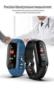 Image 4 - Smart armband wasserdichte wärme rate monitor blutdruck für Fitness Tracker unterstützung multi sport modus für Andriod smart band