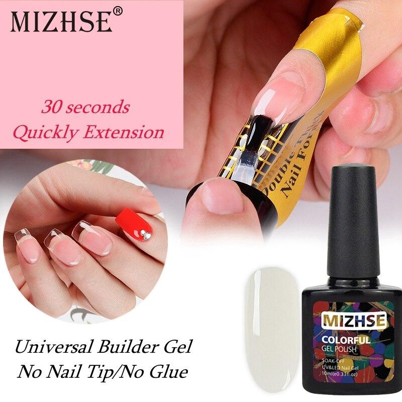 MIZHSE UV Gel Finger Extension Gelpolish Rubber Base Builder Gel - Arte de uñas
