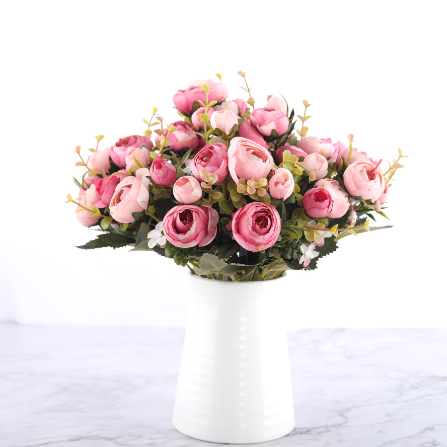Silk DIY Daisy Camellia Artificial Flowers For Xmas Party And Wedding Decoration 4
