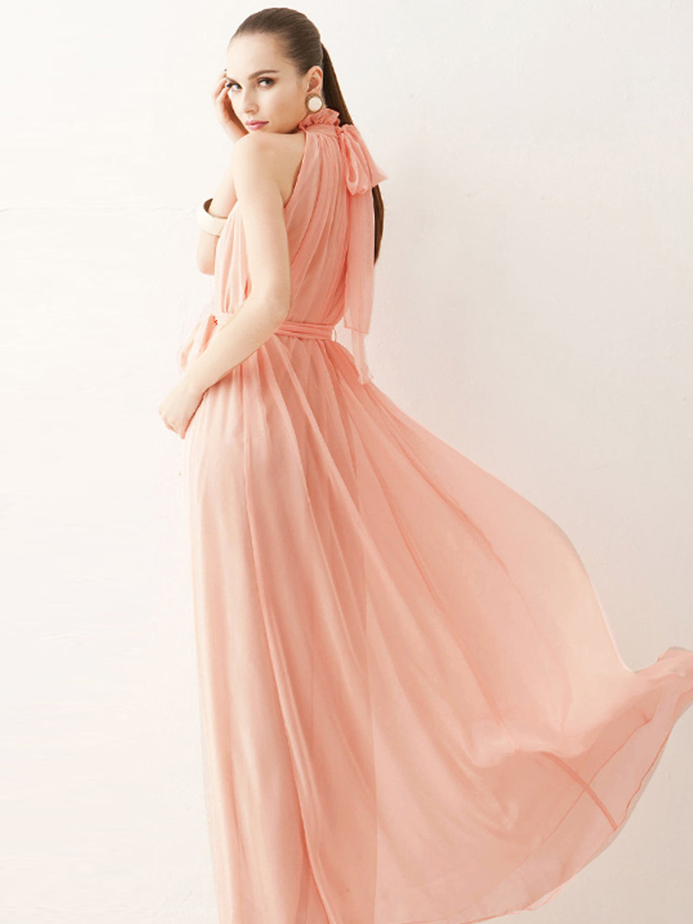 Peach pink long elegant maternity dress gown for summer holiday peach pink long elegant maternity dress gown for summer holiday beach maxi dress in dresses from womens clothing accessories on aliexpress alibaba ombrellifo Image collections
