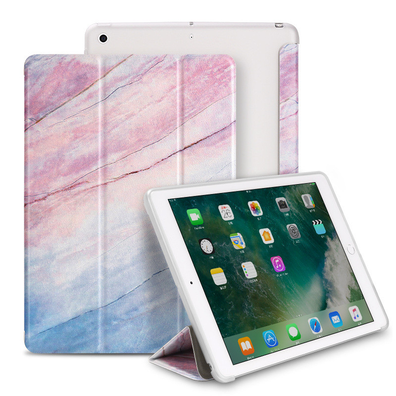 For iPad 9 7 2018 2017 Case Marble Grain TPU Leather Smart Cover for iPad Air 1 2 Mini iPad 234 Pro 10 5 Auto Sleep Wake Coque in Tablets e Books Case from Computer Office