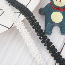 Black/white 1 Meter High Quality Crocheted Lace Ribbon for Crafts Assorted Trim Fabric DIY Sewing Skirt Accessories