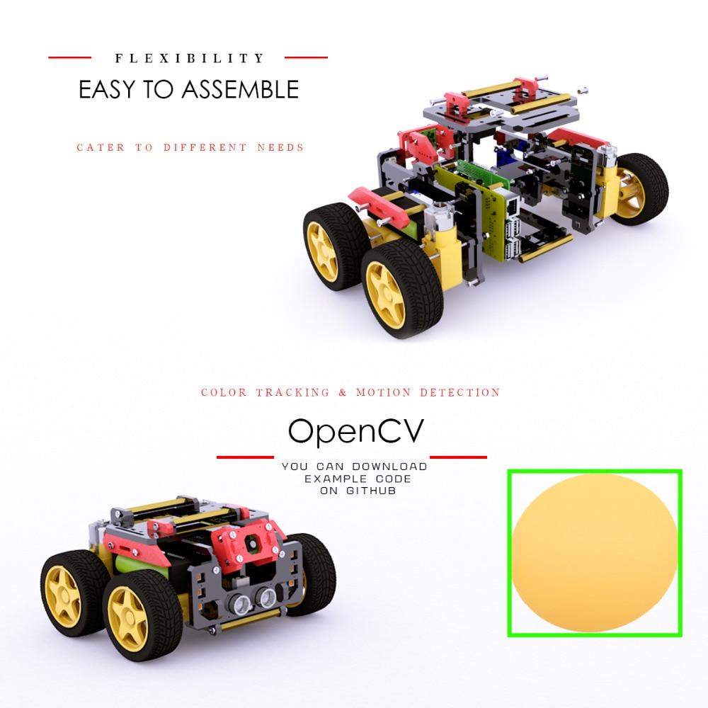 Купить adeept awr 4wd wifi умный робот автомобильный комплект для raspberry