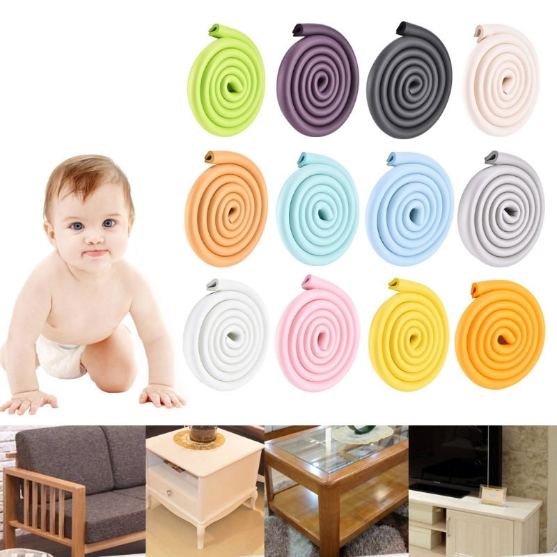 2m Baby Safety Corner Desk Guard Rubber Table Protection Kids U Shaped Soft Edge