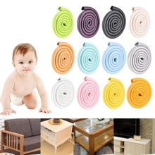 2m Baby Safety Corner Desk Guard Rubber Table Protection Kids U Shaped Soft Edge(China)