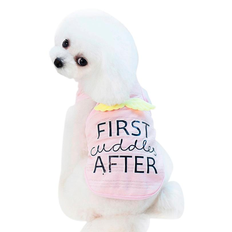 Pet Summer Cotton T-shirt Small Clothing Pet Clothes Pet Clothes & Accessories Pet Jacket # CJ